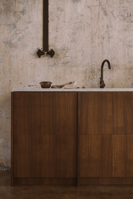 Smoked Oak veneers of natural Norwegian Wood collection for IKEA kitchen Metod and Pax