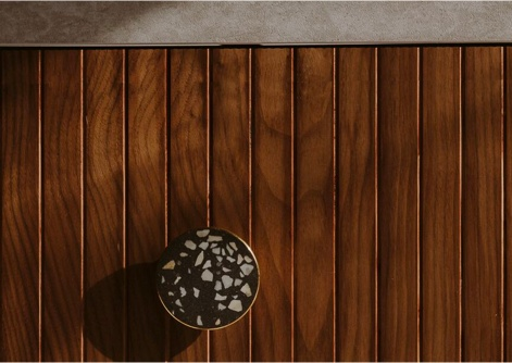 American Walnut veneers of natural Norwegian Wood collection for IKEA kitchen Metod and Pax